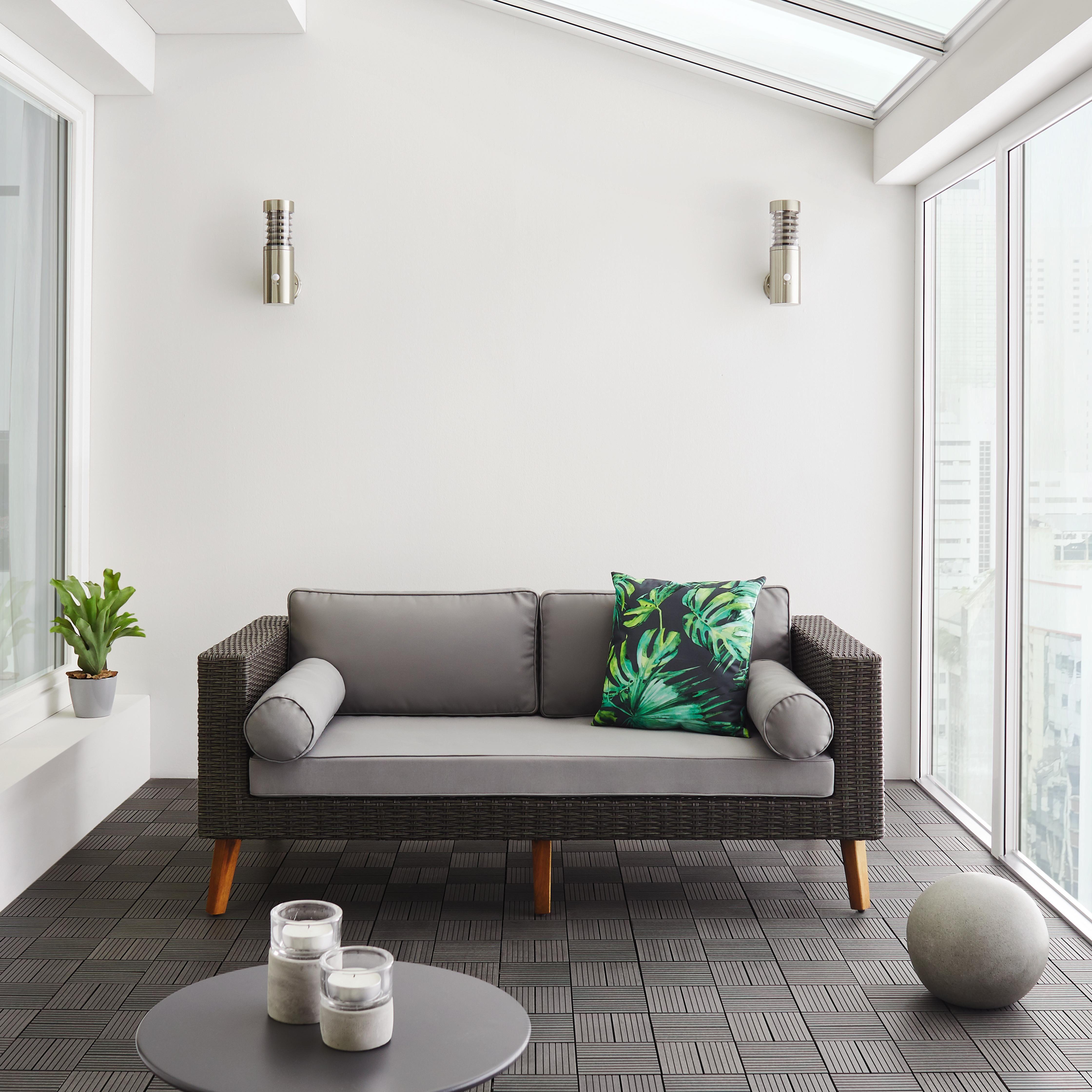 Loungesofa Vittorio 6-teilig - Grau, MODERN, Holz/Kunststoff (162/65/82cm) - Modern Living