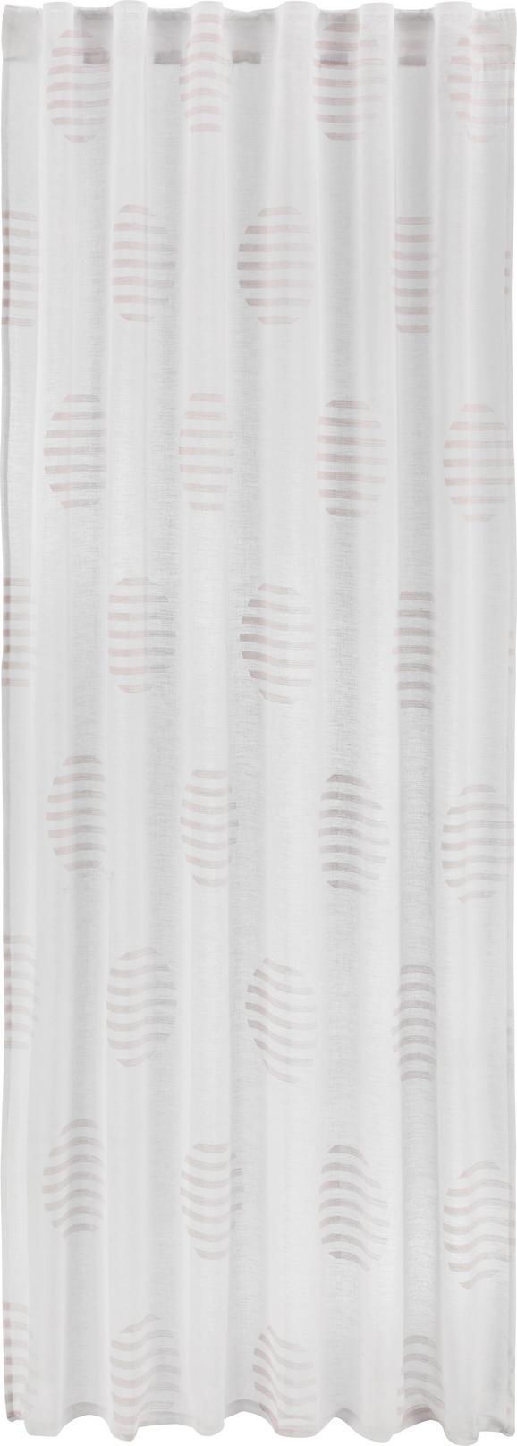 Zavesa Z Zankami Josephine - roza/bela, Konvencionalno, tekstil (140/245cm) - Mömax modern living