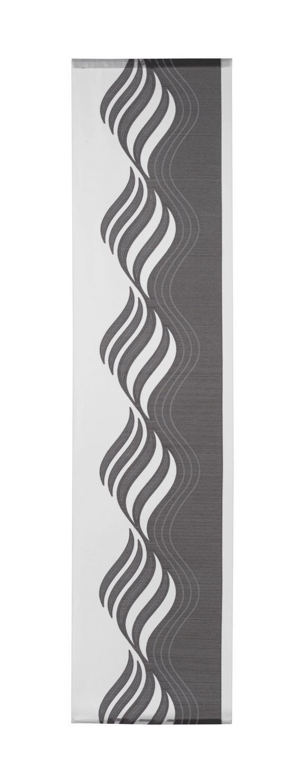 Flächenvorhang Paula Anthrazit 60x245cm - Anthrazit, KONVENTIONELL, Textil (60/245cm) - Mömax modern living