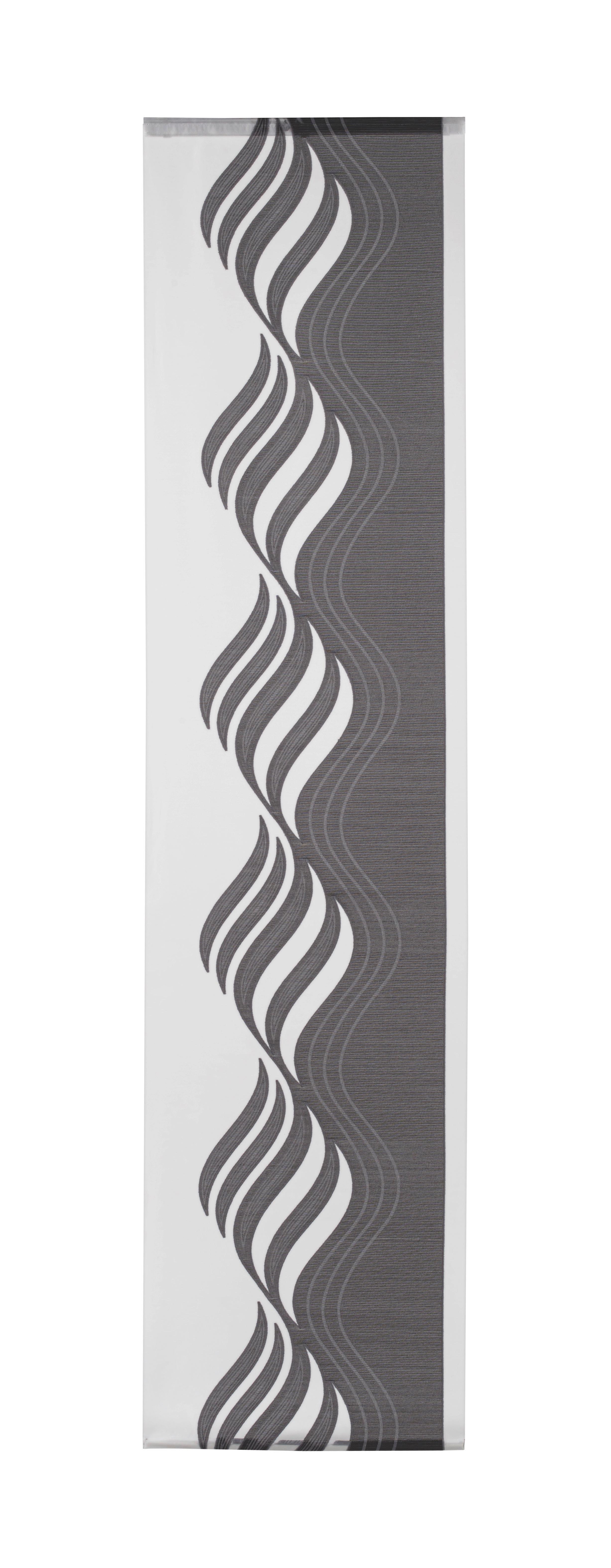 Lapfüggöny Paula - antracit, konvencionális, textil (60/245cm) - MÖMAX modern living