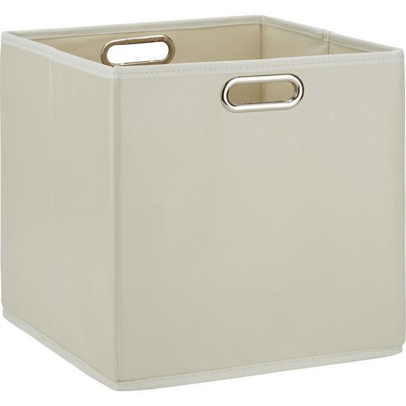 Aufbewahrungsbox Ivy Beige - Beige, Kunststoff/Metall (33/32/33cm) - Mömax modern living