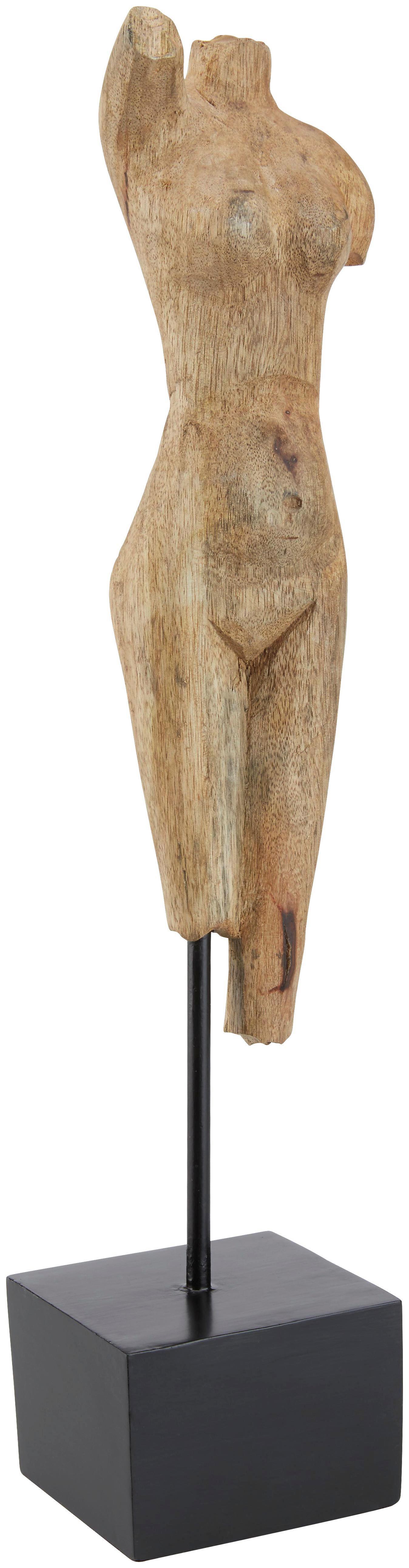 Dekoráció Asha - natúr színek/fekete, romantikus/Landhaus, fa/fém (10,5/50/9cm) - MÖMAX modern living