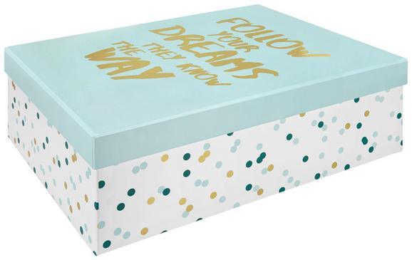 Geschenkbox Dreams in Blau aus Karton - Blau, Karton (33/11/24cm) - Mömax modern living