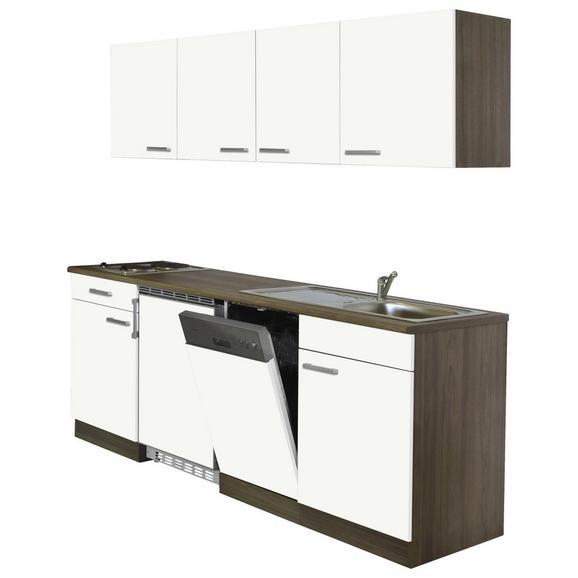 Küchenblock ECONOMY 195 - Eichefarben/Weiß, KONVENTIONELL, Holzwerkstoff (195/200/55cm) - Livetastic
