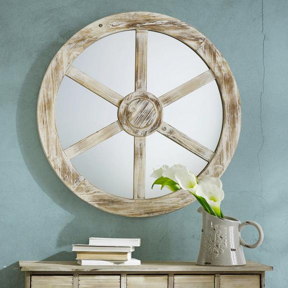 Wandspiegel Drive - Weiß, Glas/Holz (80/5cm) - MÖMAX modern living