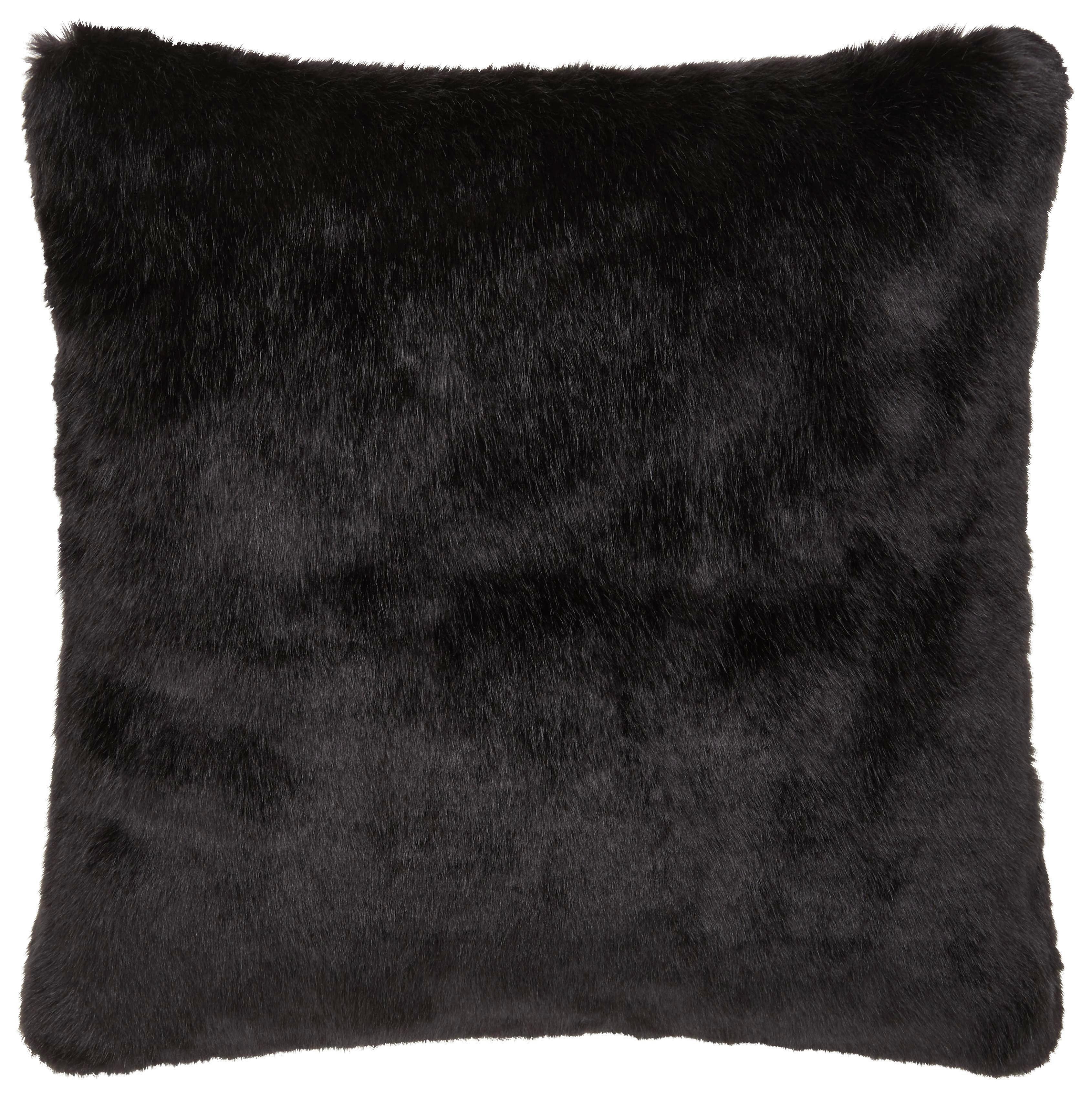 Zierkissen Blacky in Schwarz, ca. 45x45cm - Schwarz, Textil (45/45cm) - MÖMAX modern living