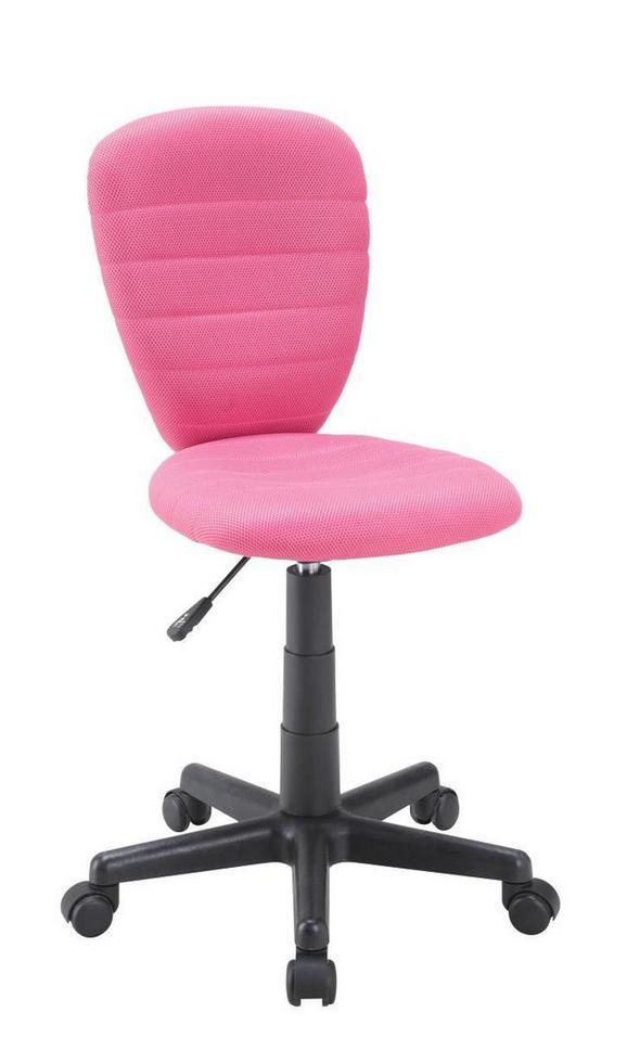 Vrtljivi Stol Speedy - roza, Moderno, umetna masa/tekstil (40/79-91/53cm) - MÖMAX modern living