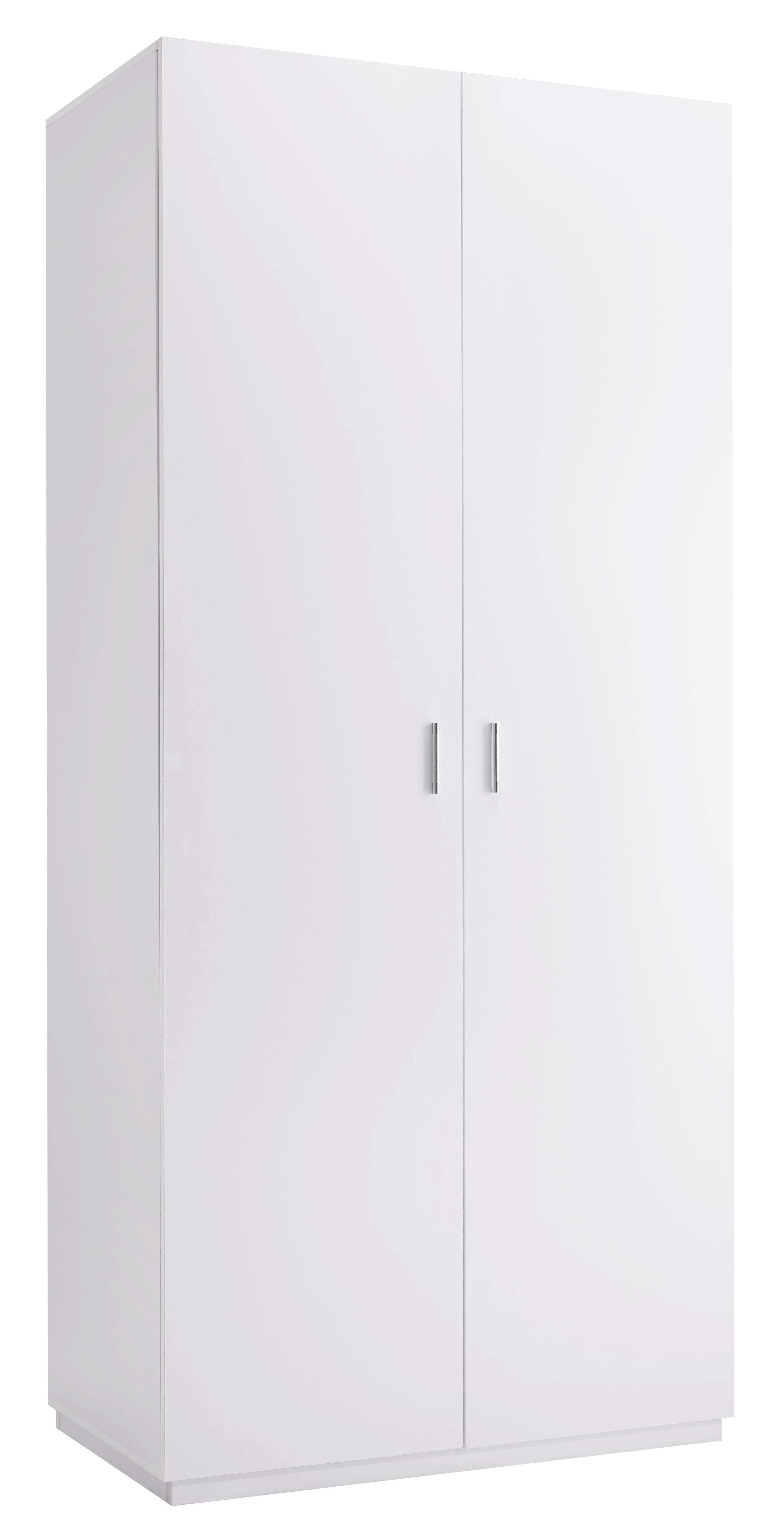 Kleiderschrank Basic - Weiß, MODERN, Holz (100/220/56cm) - MÖMAX modern living