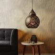 Pendelleuchte Sahar - Braun, MODERN, Metall (30/144cm) - Modern Living