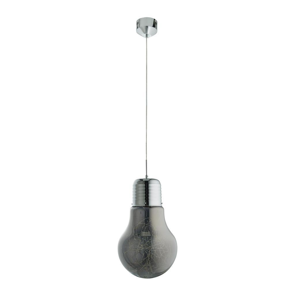 LED-Hängeleuchte max. 9 Watt Schirm Rauchglas 'Inna'