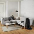 Wohnlandschaft Crissie - Hellgrau, MODERN, Holz/Textil (318/145cm) - Mömax modern living