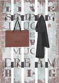 Garderobni Panel Big Simply - večbarvno, les (70/100/9cm)