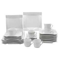 Kombiservice Xena aus Porzellan, 30-teilig - Weiß, Keramik - Premium Living