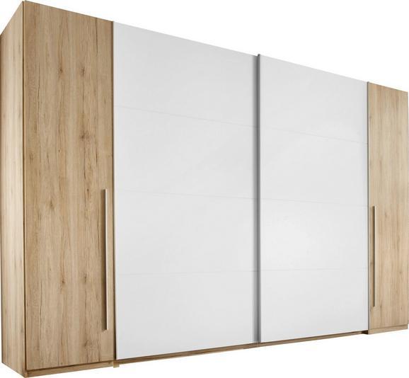 Omara Z Drsnimi Vrati Joker - aluminij/bela, Konvencionalno, umetna masa/leseni material (270/225/61cm) - Mömax modern living