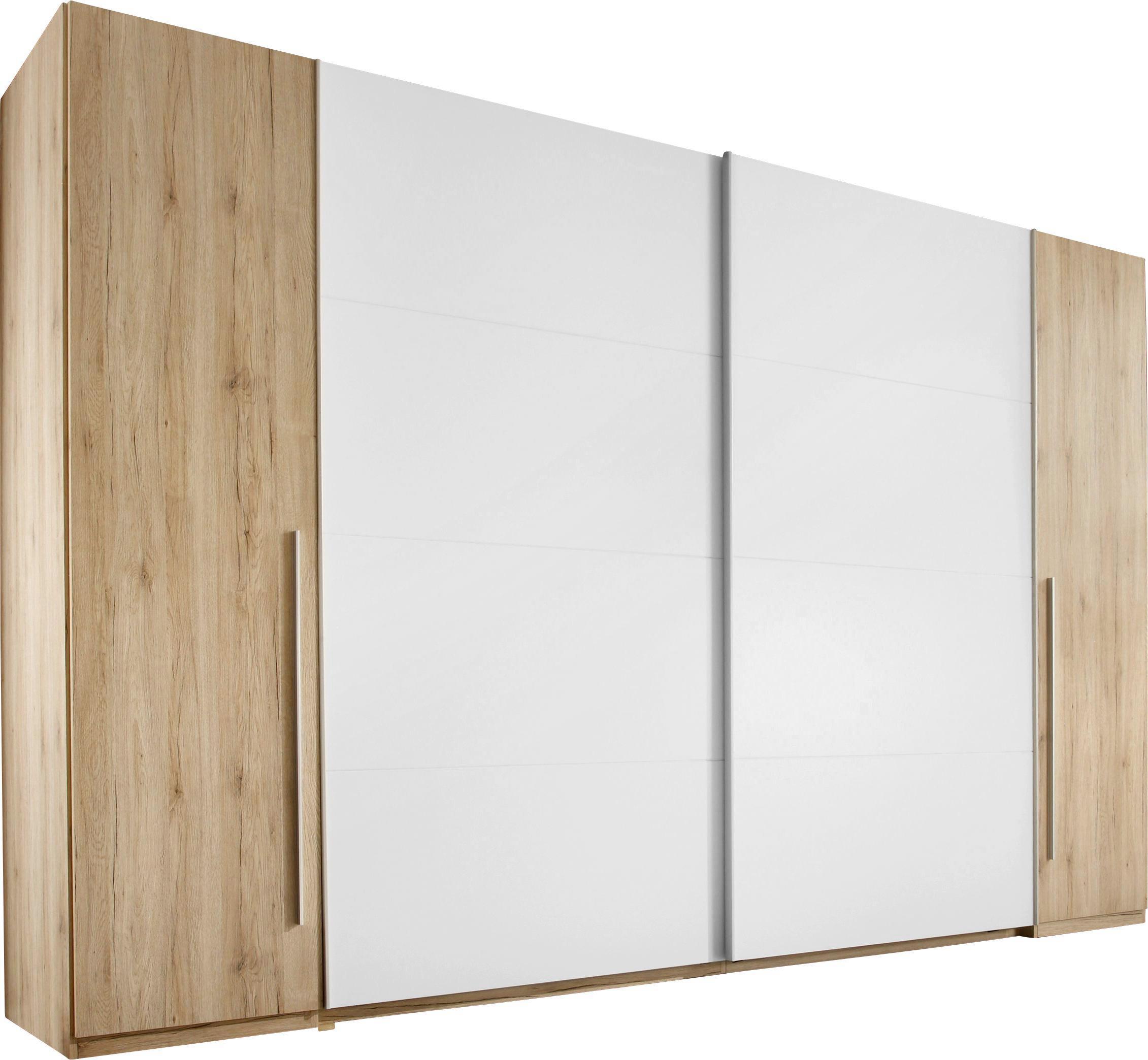 Schiebetürenschrank in Weiß/San Remo Eiche - Eichefarben/Alufarben, KONVENTIONELL, Holz/Holzwerkstoff (315/225/61cm) - MODERN LIVING