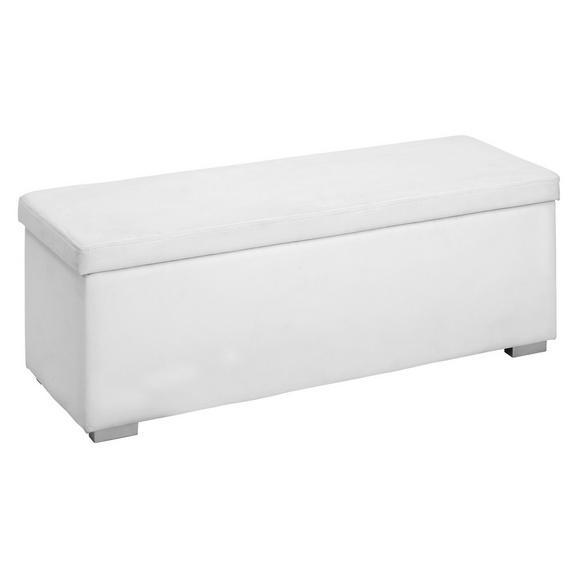 Klop S Skrinjo Universal Ii - bela/srebrna, umetna masa/leseni material (112/40/39cm) - Mömax modern living