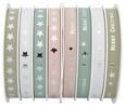 Geschenkband Glossy Verschiedene Farben - Silberfarben/Altrosa, KONVENTIONELL, Kunststoff (8,5/8,5/4cm)