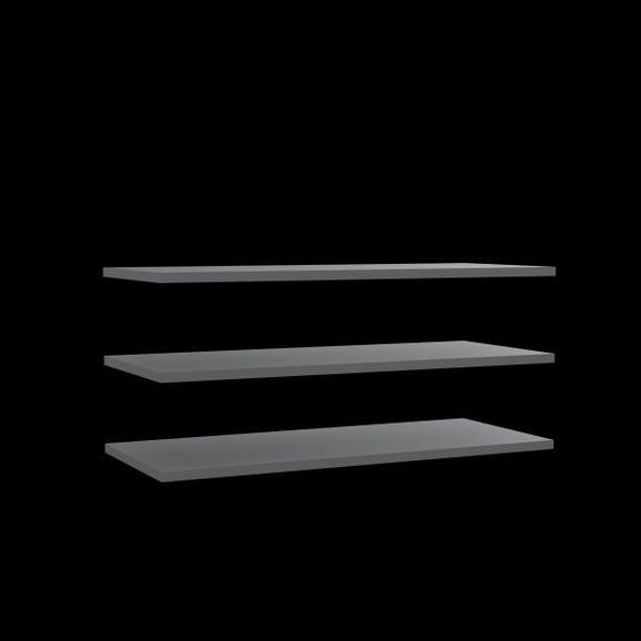 Set Rafturi Demontabile Bellevue - gri, Lifestyle, plastic/compozit lemnos (107,8/42/2,2cm)