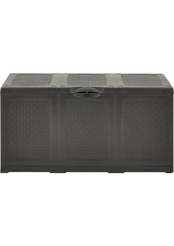 Kissenbox Hippo in Anthrazit - Anthrazit/Hellgrau, Kunststoff (120/60/52cm) - Mömax modern living