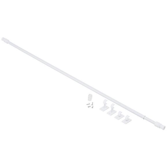 Vitragenstange Aura Weiß, ca. 135cm - Weiß, Kunststoff (85-135cm) - Mömax modern living