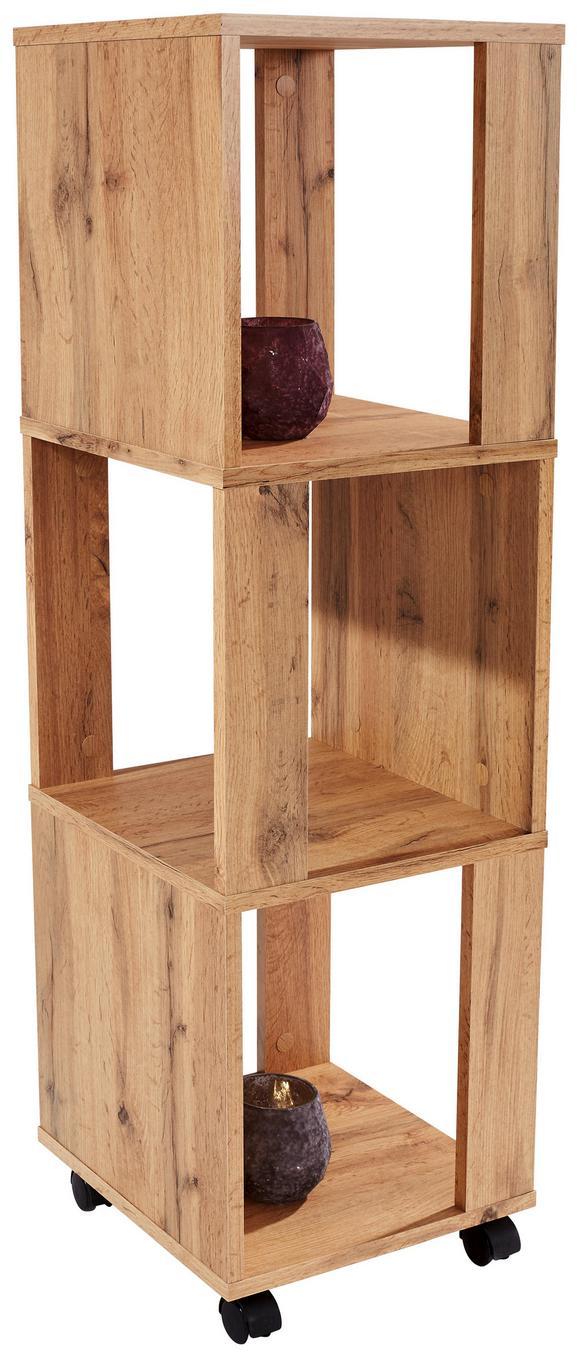 Polc Rolly 2 - Tölgyfa, modern, Faalapú anyag/Műanyag (34/111/34cm)