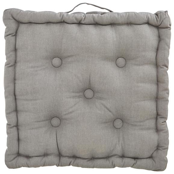 Boxkissen Steven ca. 40x40x8cm - Grau, Textil (40/40/8cm) - Mömax modern living