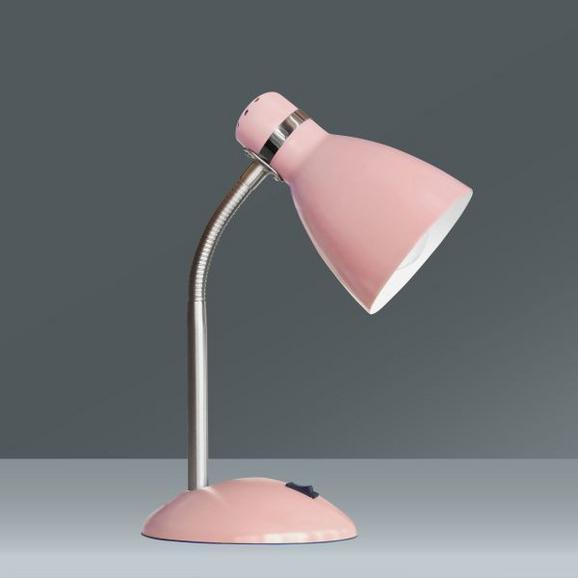 Asztali Lámpa Elif - Fáradt rózsaszín, romantikus/Landhaus, Fém (35cm)
