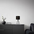 Tischleuchte Evelyn max. 40 Watt - Schwarz, LIFESTYLE, Metall (17/35cm) - Modern Living