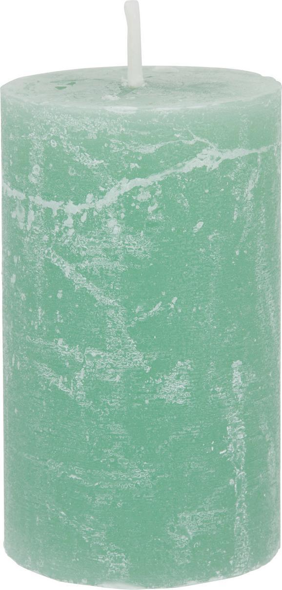 Stumpenkerze Lia in Dunkelgrün - Dunkelgrün, MODERN (6,8/12cm) - MÖMAX modern living