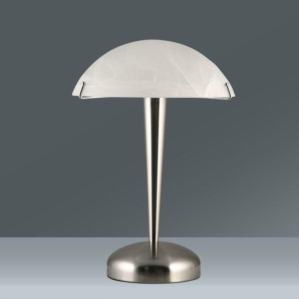 Tischleuchte Vinzenz, max. 40 Watt - Weiß/Nickelfarben, KONVENTIONELL, Glas/Metall (22/22/33cm) - MÖMAX modern living