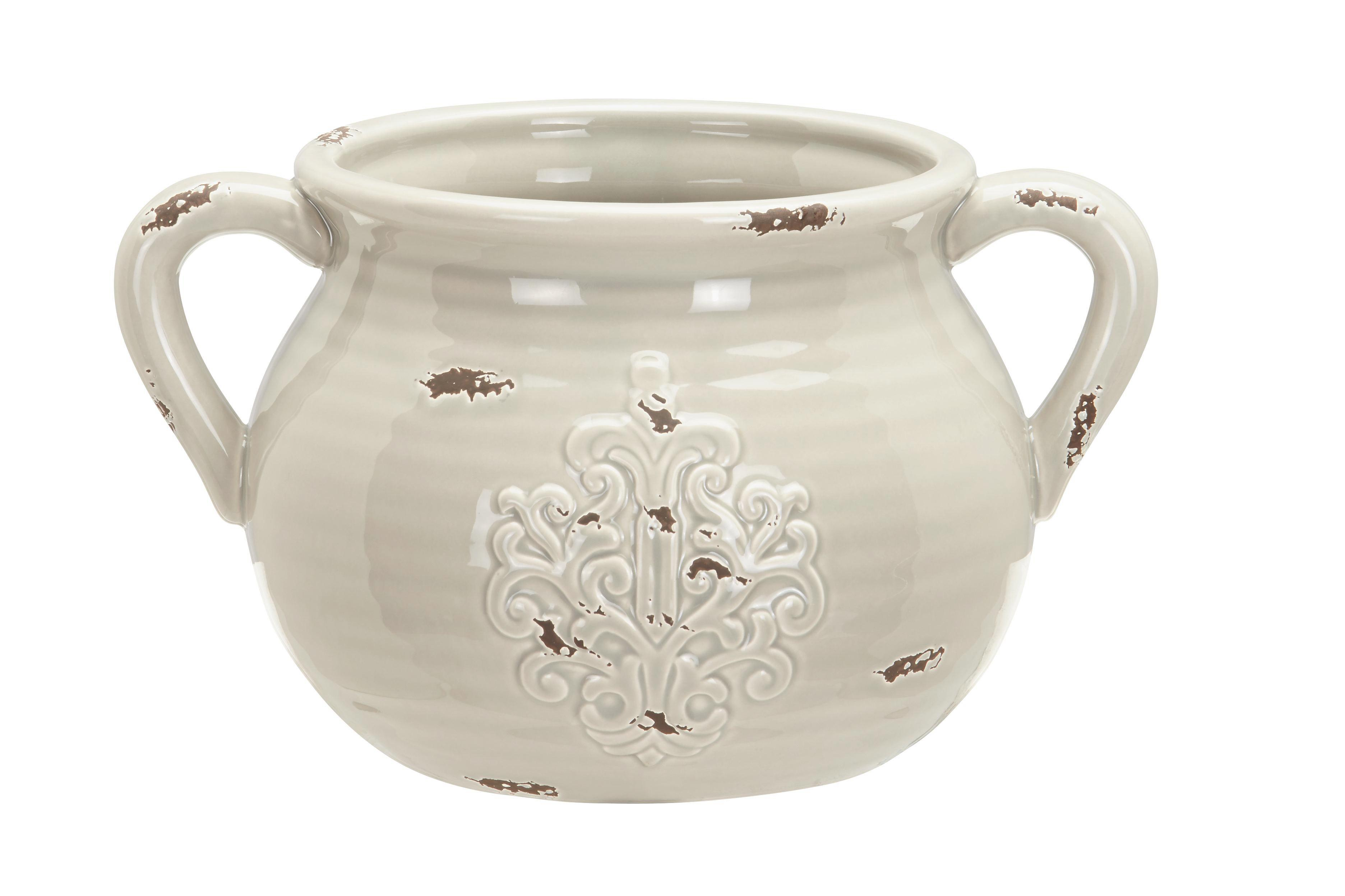 Dekokrug Euphoria - Grau, ROMANTIK / LANDHAUS, Keramik (27,5/21/16cm) - MÖMAX modern living