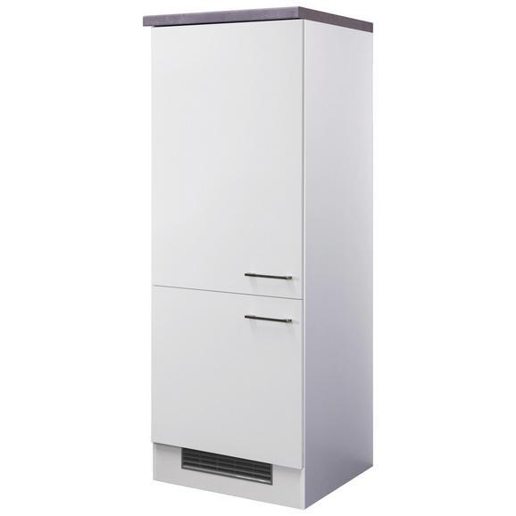 Geräteumbauschrank Weiß - Edelstahlfarben/Weiß, MODERN, Holzwerkstoff/Metall (60/162/57cm)