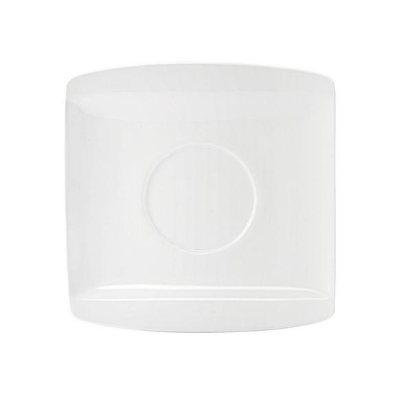 Untertasse Pura - Kaffee in Weiß - Weiß, LIFESTYLE, Keramik (12,7/12,8cm) - Premium Living