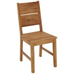 Stuhl aus Wildeiche Massiv - Eichefarben, KONVENTIONELL, Holz (42/94/48cm) - Zandiara