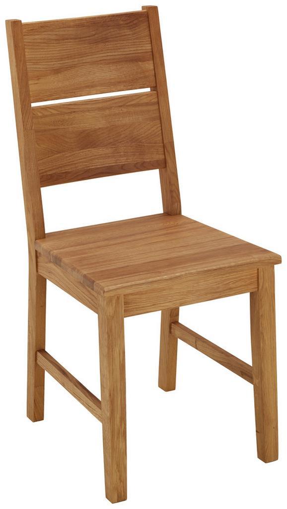 Stuhl in Eichefarben - Eichefarben, KONVENTIONELL, Holz (42/94/48cm) - ZANDIARA