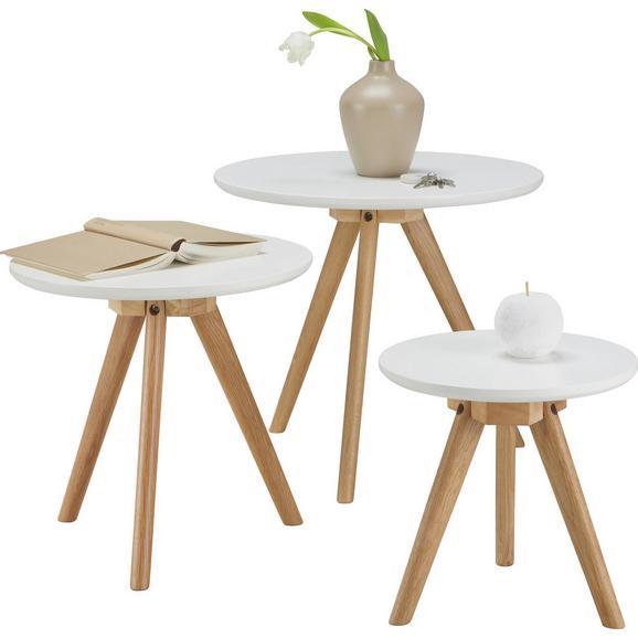 Couchtisch in Weiß - Braun/Weiß, MODERN, Holz (45/50/40/40cm) - Mömax modern living