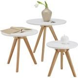 Dohányzóasztal Coffee 7399 - Barna/Fehér, modern, Fa (45/50/40/40cm) - Mömax modern living