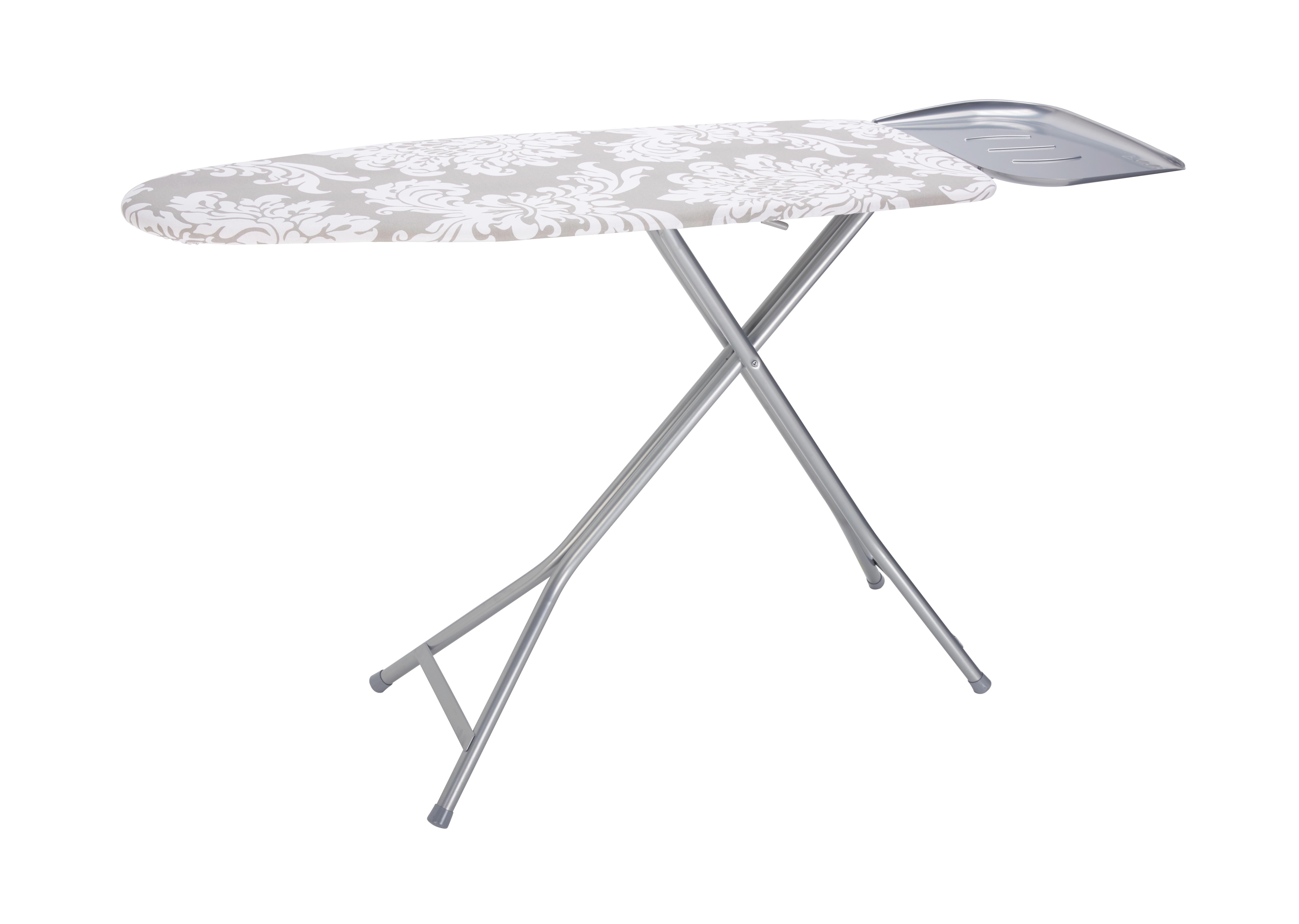 Vasalódeszka Kate - fehér/szürke, textil (40/120cm) - MÖMAX modern living