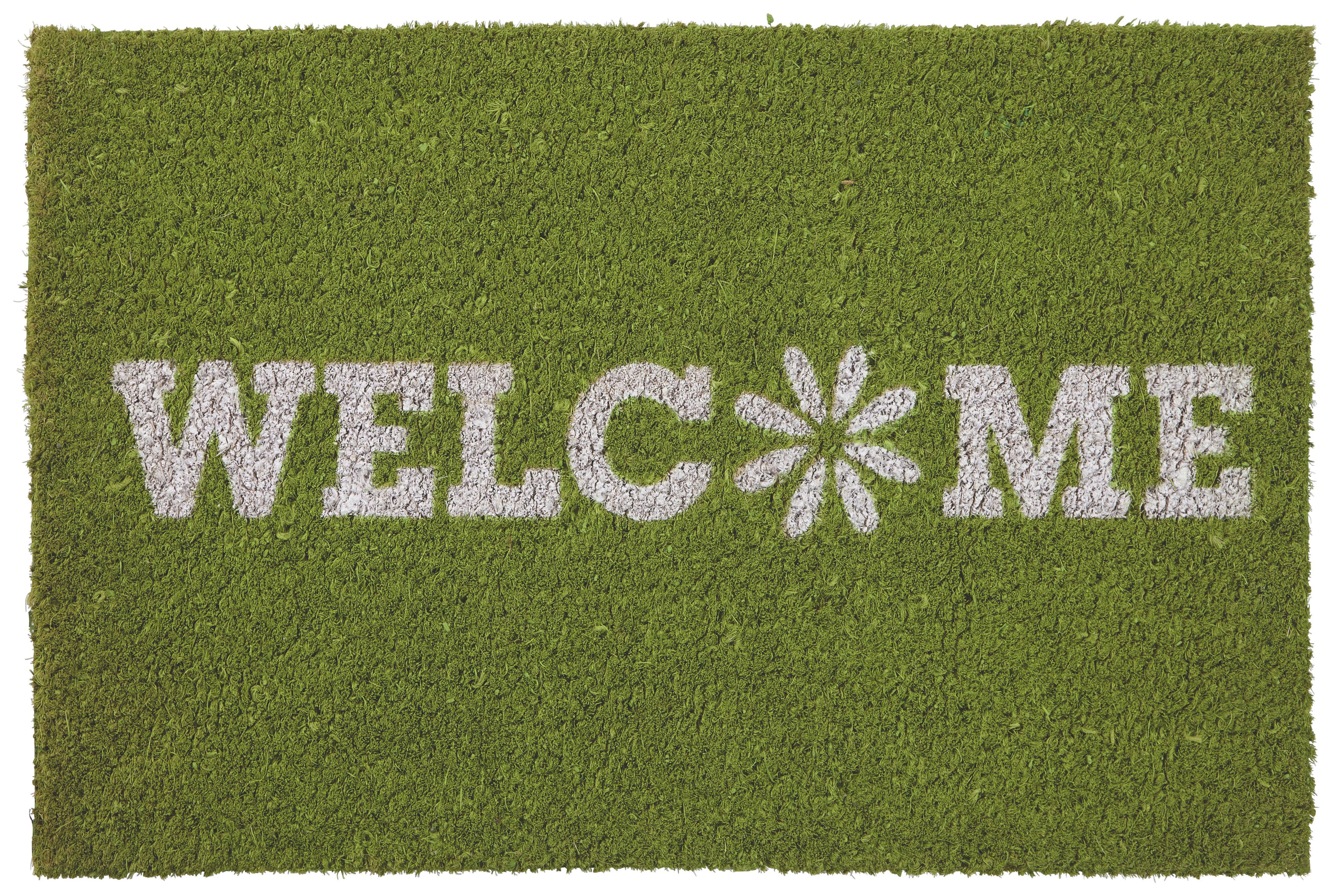 Lábtörlő Welcome Spring - zöld, textil (40/60cm) - MÖMAX modern living