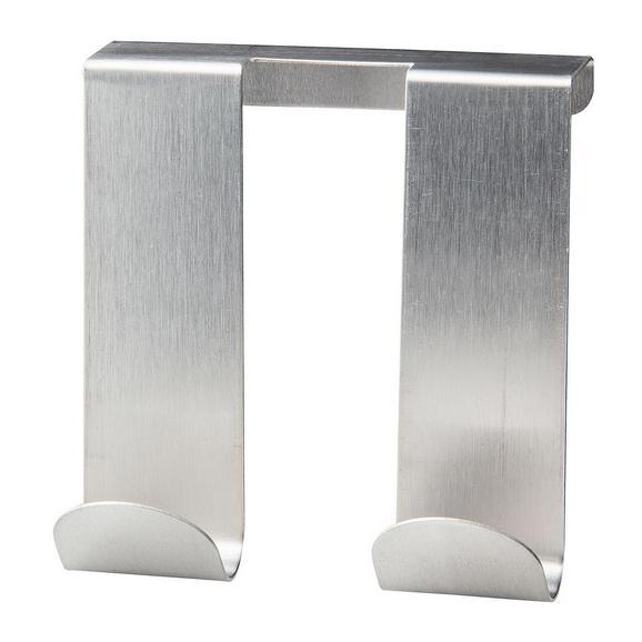 Türhaken Edelstahlfarben - Edelstahlfarben, Metall (9/10/2cm)
