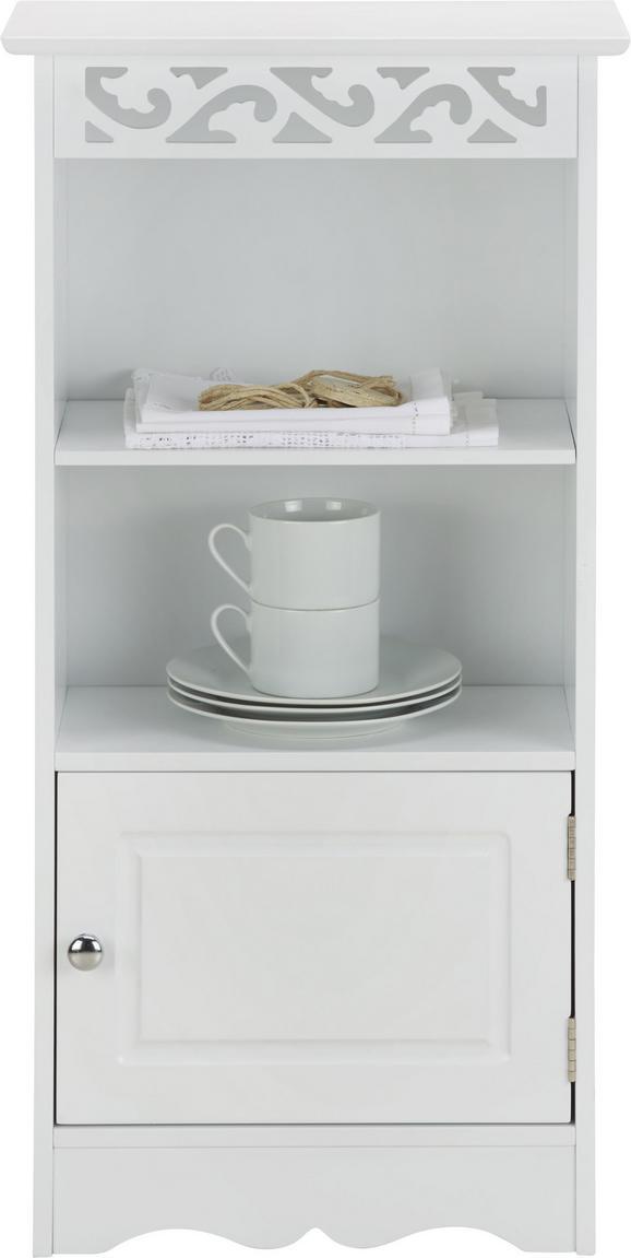 Regal Queeny - Weiß, MODERN, Holz/Metall (40/80/23cm) - Mömax modern living