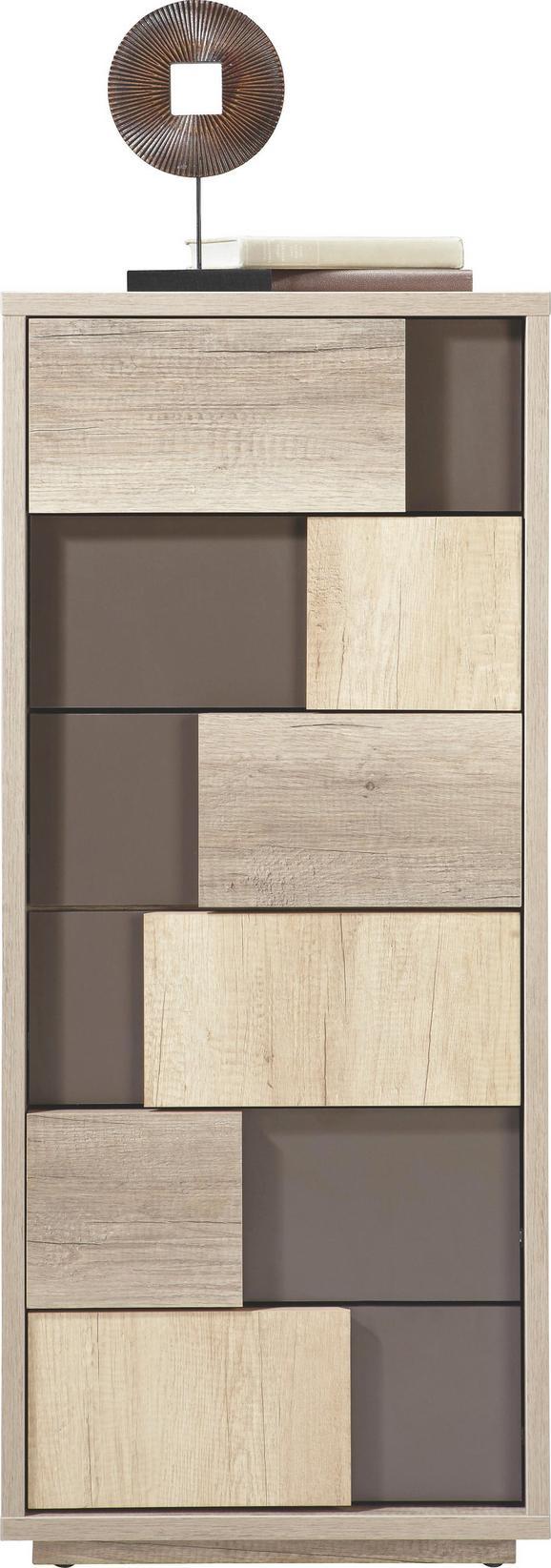 Kommode Braun/Canyon Grey - Blau/Grau, MODERN, Holzwerkstoff (51/119/45cm) - Mömax modern living