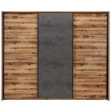 Schwebetürenschrank in Antrazit/Eichefarben - Eichefarben/Anthrazit, LIFESTYLE, Holzwerkstoff/Metall (280/231/61cm) - Premium Living