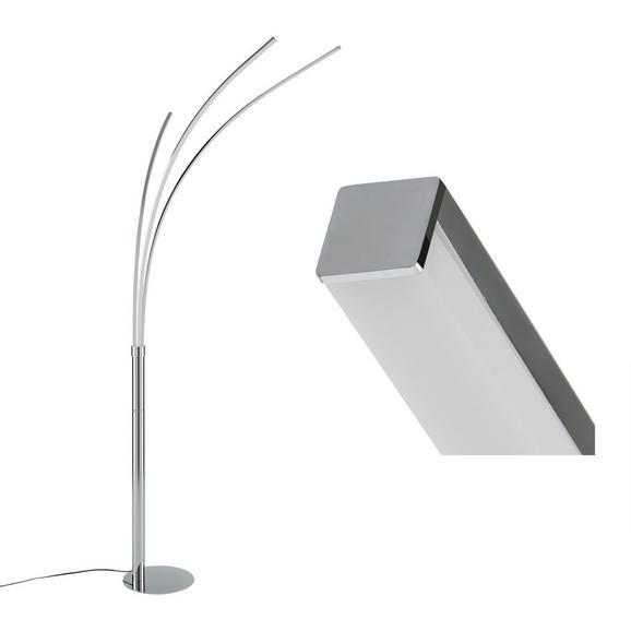 Stoječa Led-svetilka Maja - krom/srebrna, kovina (80/58/215cm)