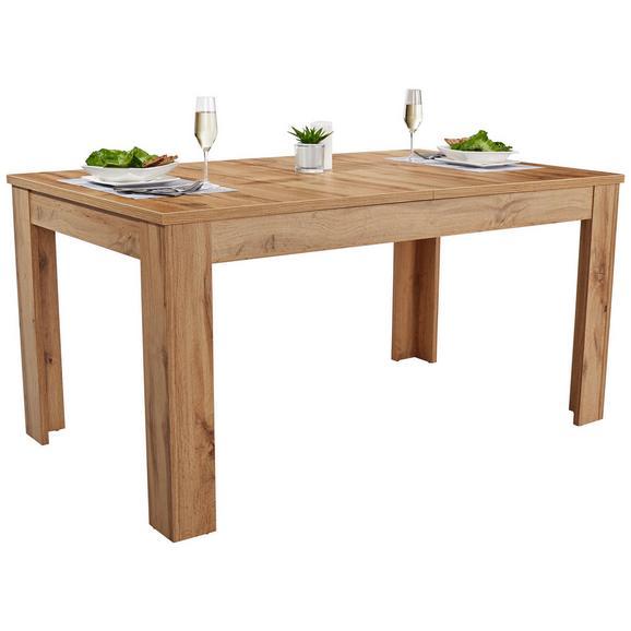 Jedilna Miza Dinner 160 Ca. 160-200x90 Cm - hrast, Konvencionalno, leseni material (160/76/90cm) - Modern Living