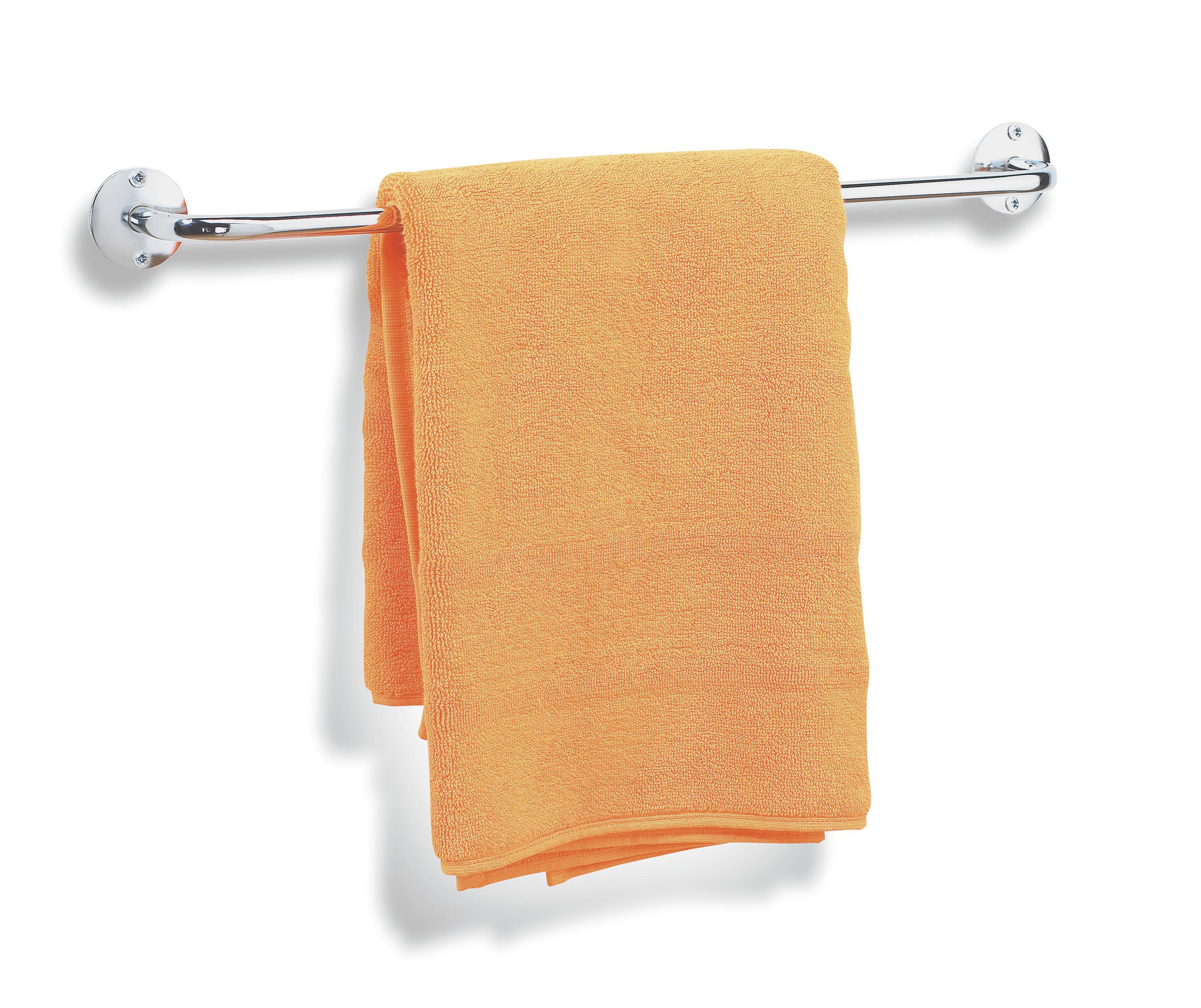 Handtuchhalter in Chromfarben - Chromfarben, Metall (55/5/6,5 CMcm) - MÖMAX modern living