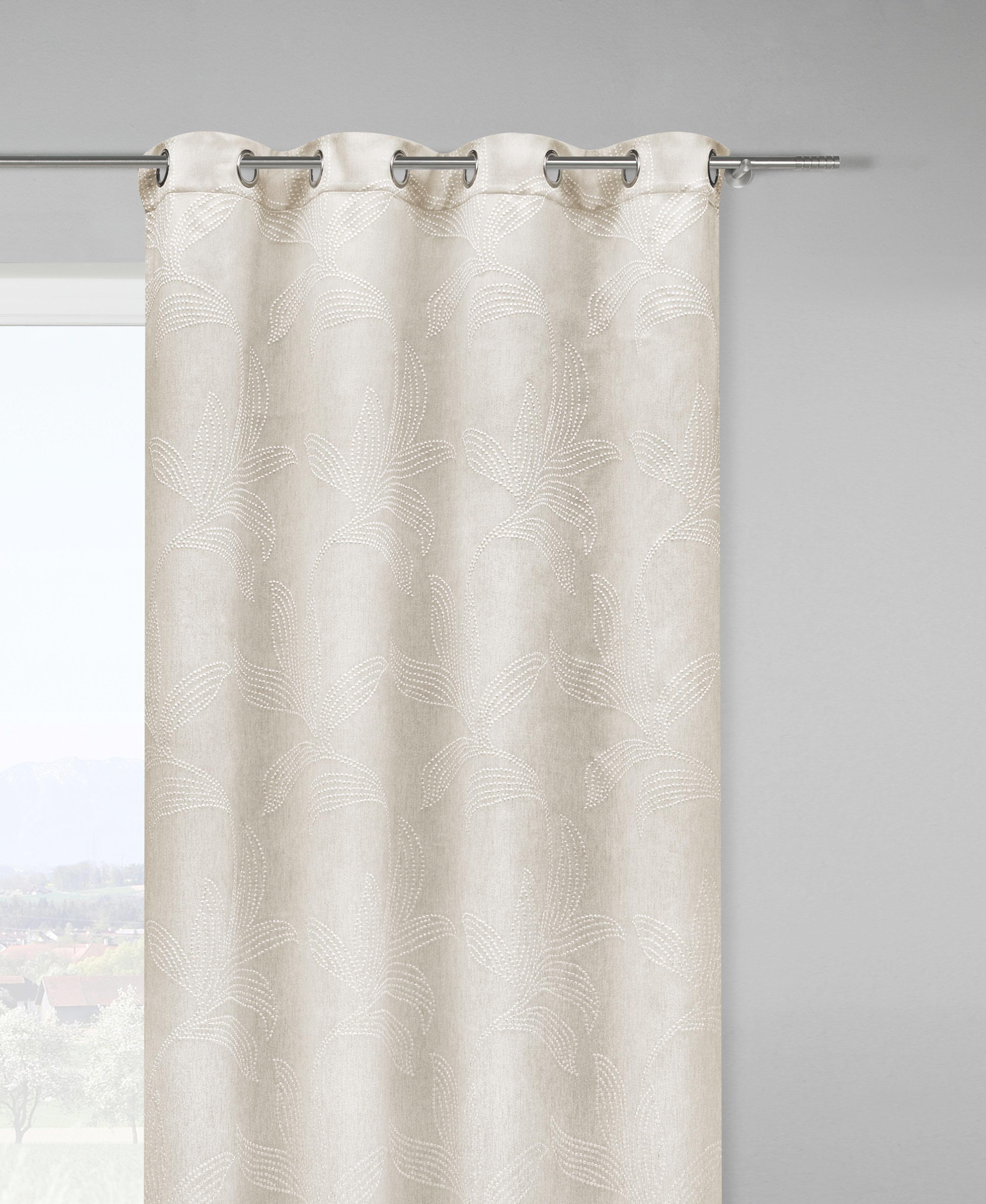 Ösenschal Linda in Natur, ca. 140x245cm - Naturfarben, KONVENTIONELL, Textil (140/245cm) - MÖMAX modern living