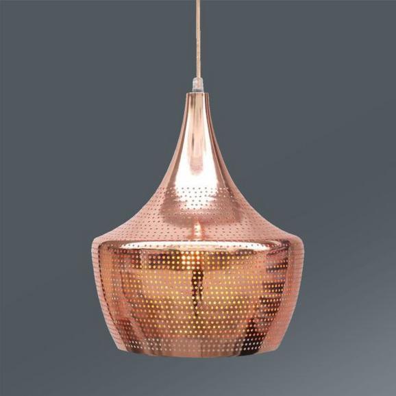 Hängeleuchte Emir, max. 60 Watt - Kupferfarben, LIFESTYLE, Metall (30/125cm) - Mömax modern living