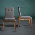 Stuhl Jarry - Grau, MODERN, Holz/Textil (47/86/58cm) - Bessagi Home