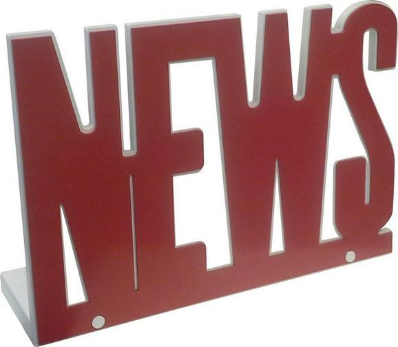 Zeitungsständer News in Rot/Weiß - Rot/Weiß, MODERN, Holzwerkstoff (34/29,5/11,8cm) - MÖMAX modern living